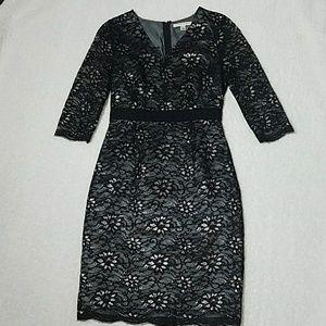 BR classic floral lace dress size 0